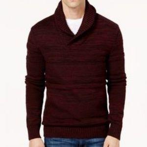 American Rag Chunky Burgundy Vneck Men's Sweater